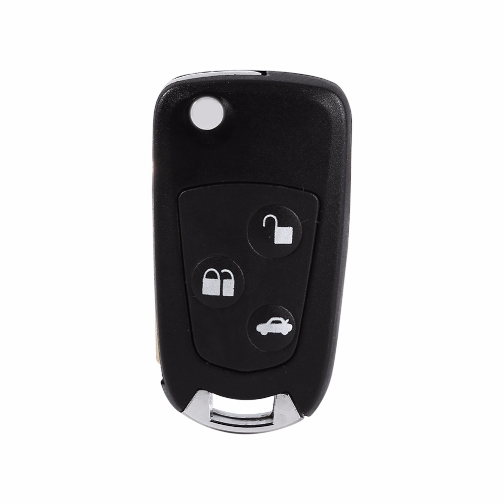 1 Pcs Key Case Shell Remote Flip / Folding Key Shell Case Uncut Blank Refit For Ford Focus Ka Mondeo 3 Buttons 100% Brand New