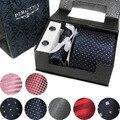 Envío Gratis A Estrenar Del lazo Corbata de Poliéster establecido Hecho A Mano Clásico Disfrazarse tie set caja de regalo de embalaje 11177