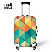 Купить с кэшбэком Cover for Suitcase Geometric Patterns Luggage Protective Covers Travel Accessories High Elastic Baggage Case Cover With Zipper