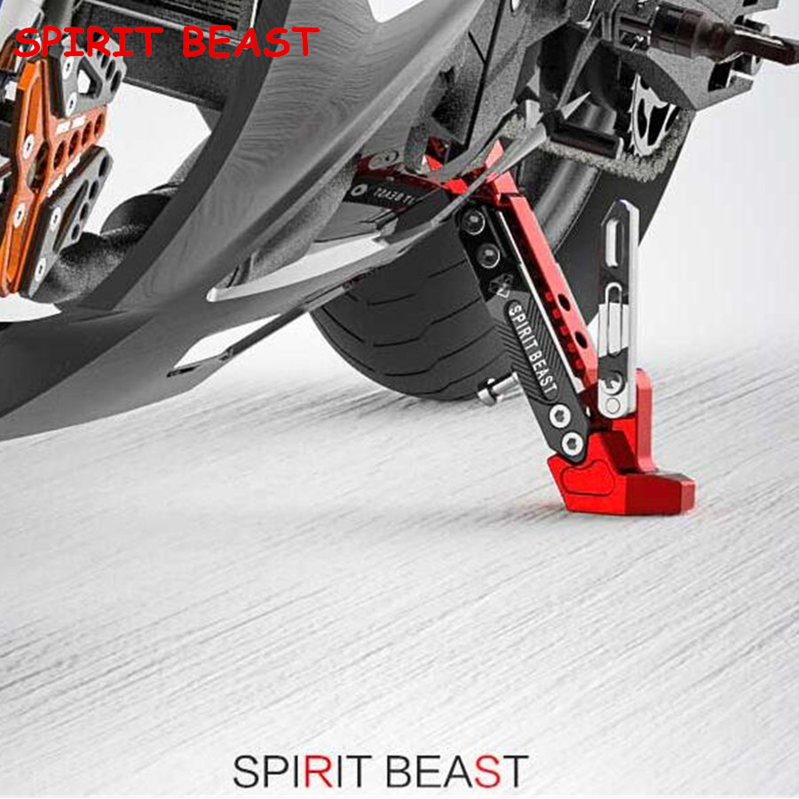 T6063 aluminum alloy 304 stainless steel screws Motorcycle Side Stand Motorcycle Scooter Street Standard