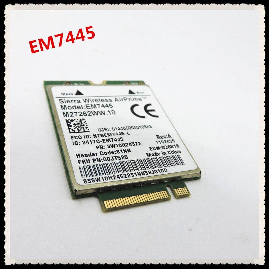 Sierra Wireless AirPrime EM7445 LTE-FDD LTE-TDD HSPA+ 3G 4G WWAN Network CardSierra Wireless AirPrime EM7445 LTE-FDD LTE-TDD HSPA+ 3G 4G WWAN Network Card