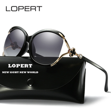 LOPERT Ladies Polarized Cat Eye Sunglasses Women Luxury Brand Driving Glasses Female Retro Fashion Style Sun Glass  De Sol UV400