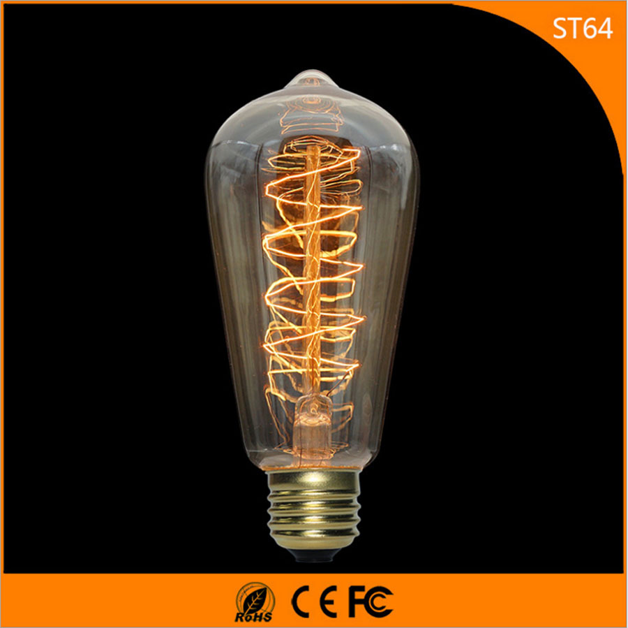 50Pcs Vintage Design Edison Filament E27 LED Bulb ,ST64 40W Energy Saving Decoration Lamp Replace  Incandescent Light AC220V 1pcs e27 t80 led energy saving lamp light bulb velas led decorativas home lighting decoration 40w ac85 265v led lamp