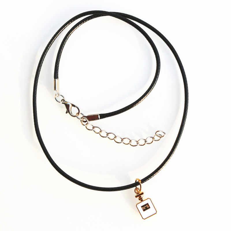 N856 Bijoux для женщин флакон духов кулон цепочки и ожерелья s Модные Украшения Веревка Цепи высокое качество 2018