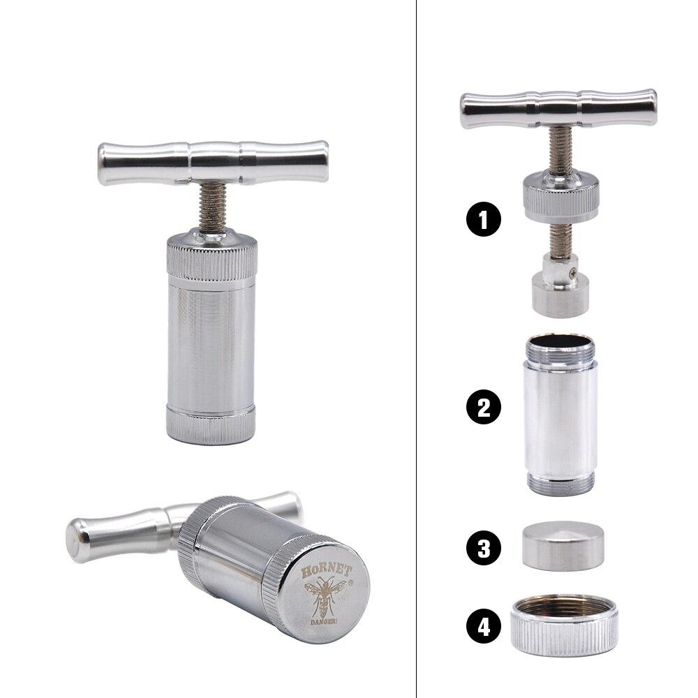 Metall Aluminium Pollen Presser Kompressor Drücken grinder Tabak Spice Grinder Crusher zubehör Rauchen Rohr Zubehör