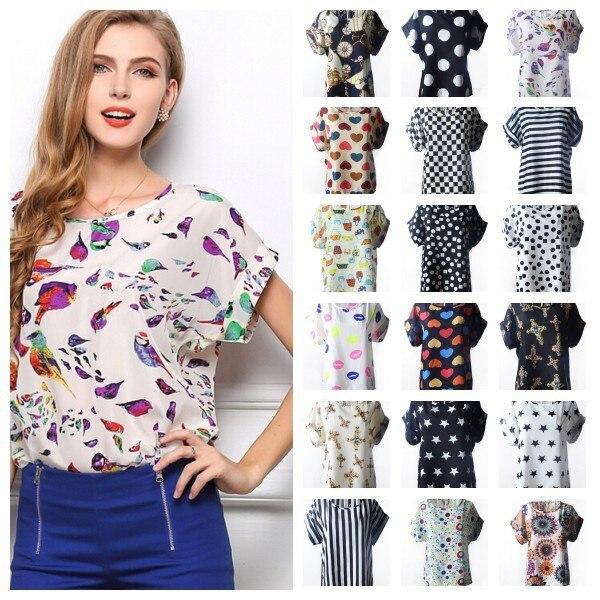 Chiffon Blouse Women Summer Autumn Plus Size Blusa White Ladies ...