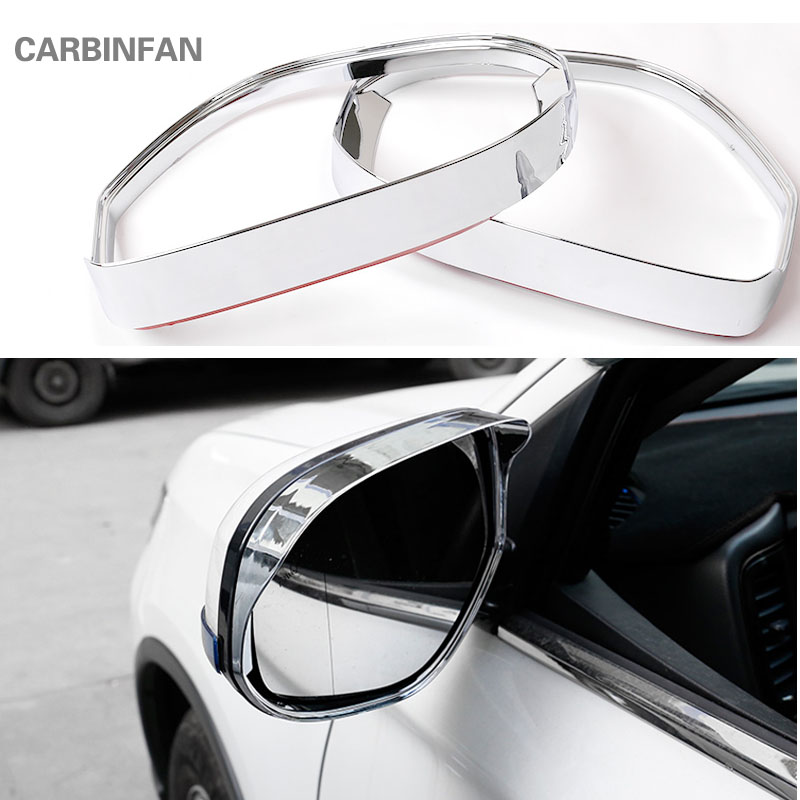 ABS Car Rearview Mirror Visor Shade Rain Guard For Toyota RAV4 2016 2017 2018