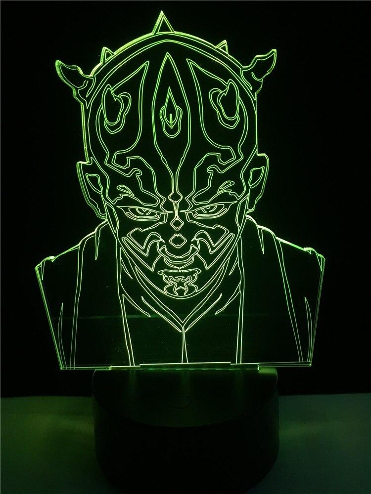 Luzes da Noite moda star wars cavaleiro jedi Function 4 : Lampada Led/lamparas/led Lamp Indoor
