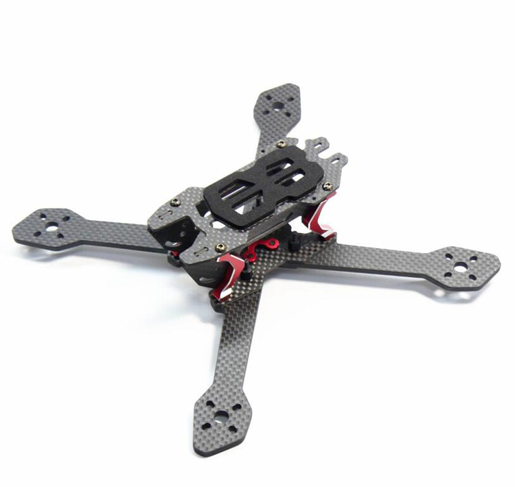 1PCS DALRC Title X212 Carbon Fiber Frame Kit 4mm Independent Arm Quick-release for RC Quadcopter Drone FPV Racing Drone fpv racing drone frog 218 carbon fiber quadcopter frame kit 4mm arm for qav xs qav210 thor x5 crusader page 3