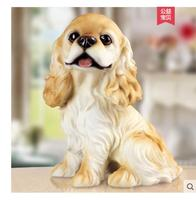 Golden retriever model resin dog dog places porch to live in adornment lovely puppy TV ark decoration home resin sculpture merry