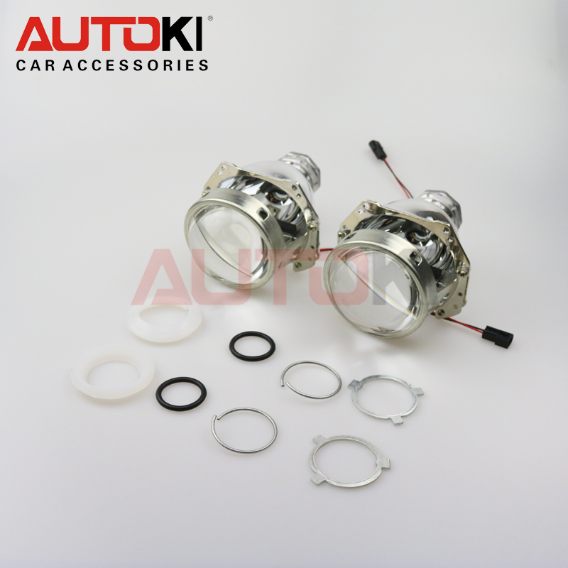 Free Shipping High Quality Autoki 3 0 inches Full Metal D2S H4 Bi Xenon Projector lens