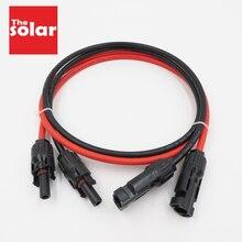1 زوج X 4mm2 12AWG 3ft 6ft 9ft 15ft 30ft موصل كهروضوئي تمديد ربط فرع أسود سلسلة موازية تمديد كابل
