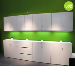 Yue Zi Furniture Korean Fashion White Locker Combination IKEA Office Kitchen  Sideboard Modern High Cabinet Side