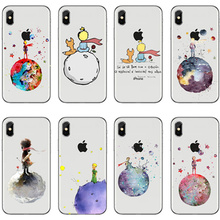 Lovely the Little Prince fox On Mint Transparent Silicone TPU Cover Case for Apple iPhone 8 7 6 6S Plus 5 5S SE X 10 Coque Shell