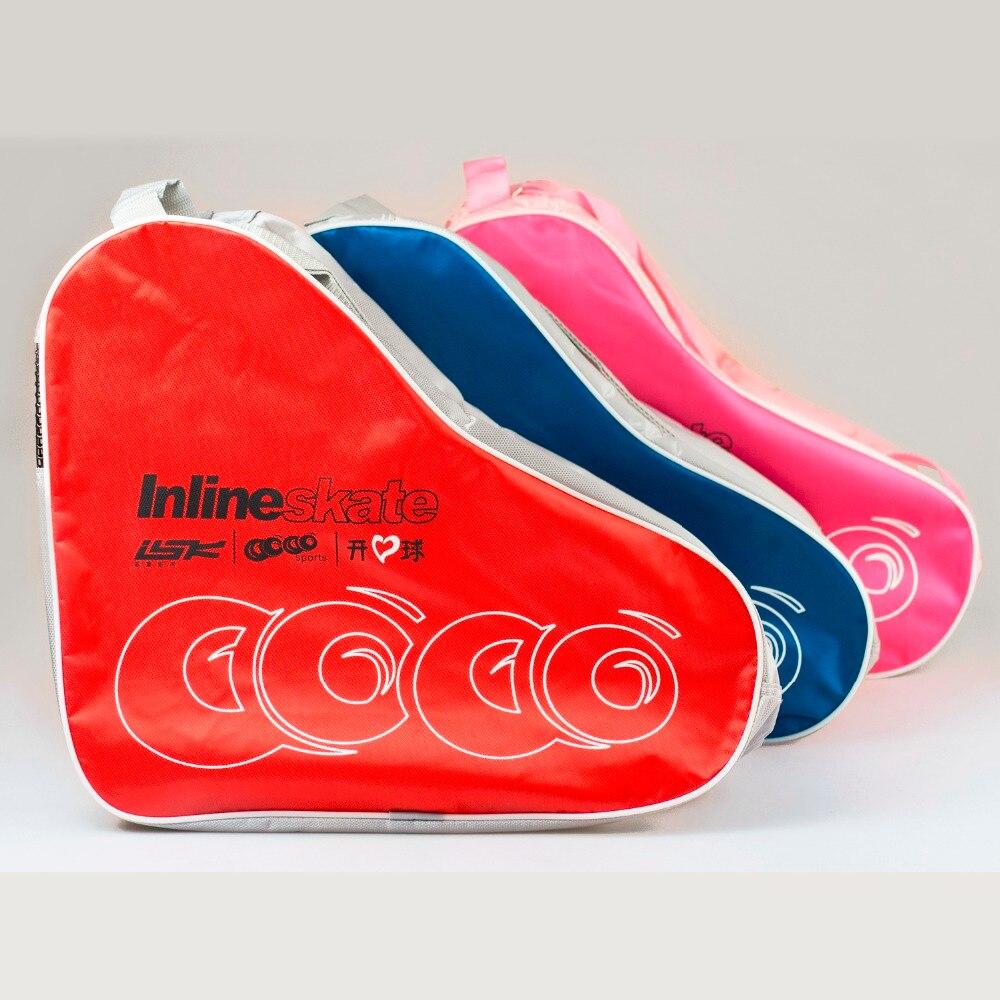 2018 NEW Kids Adult Ice Roller Inline Skate Shoes Snow Boots Bag Portable Carry Bag Shoulder Bag Big Capacity 40x35x16cm цена