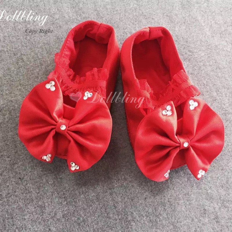 Red Black Magic Good Witch Mother Baby Match Etsylush Queen of Heart Vintage Doll Pageant Outfit Ballerina Infant Crib Shoes