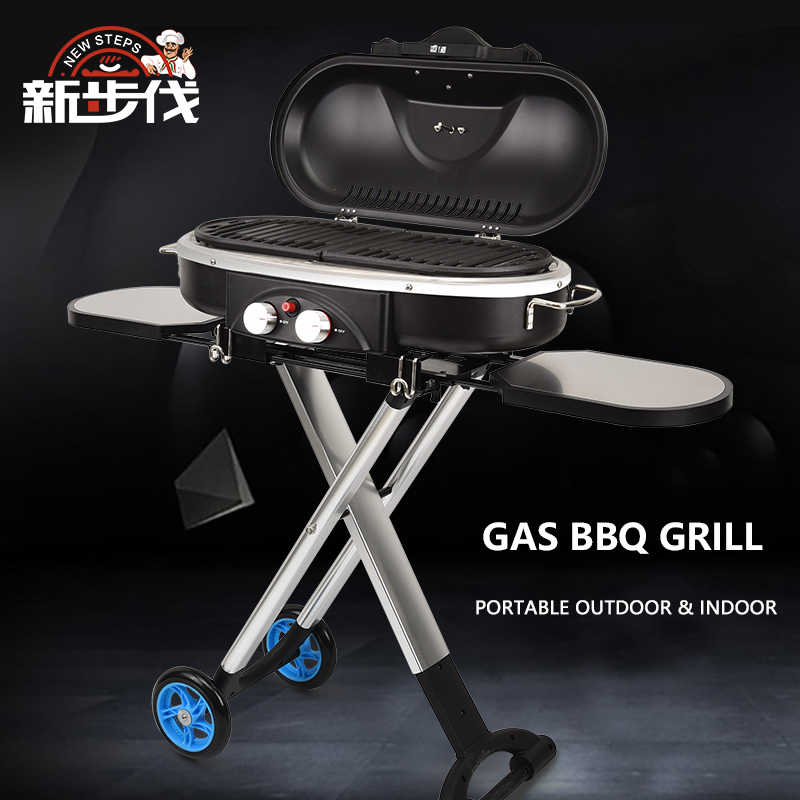 New Steps Outdoor And Indoor Gas Cooking Stove Portable Propane Camping Bbq Grill 3 0kw Foldable