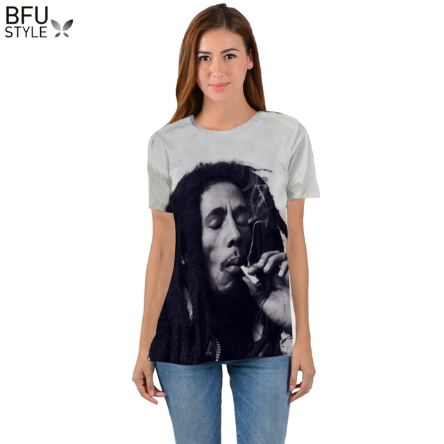 a199b8d5f2f69 Bob Marley T-shirt Men Women Harajuku 3D Print T-shirt Funny Brand Clothing  Summer Tops Tees Hip Hop T Shirts Dropship