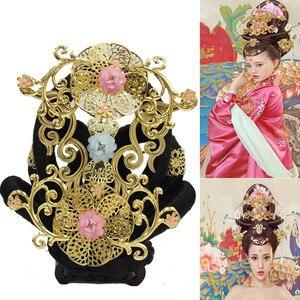 Красивые винтажные аксессуары для волос принцессы, карнавальный костюм, китайские волосы для косплея на Хэллоуин, старинная заколка, коспл...