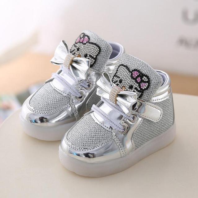 Chaussures Printemps Bonjour lumineuses baskets fille Kitty Enfants nPxS7A