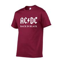 7ca774954e7 2018 New fashion autumn AC DC band rock short Sleeve T Shirt Mens acdc  Graphic O Neck Hip Hop T-shirts Print Casual T shirt