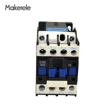 CJX2-1810 Electric Motor Contactor 18A 3P+1NO Coil Voltage 380V 220V 110V 36V 24V 50/60Hz Din Rail Mounted Magnetic Contactor стоимость