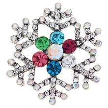 JaynaLee 20mm Colorful Christmas Xmas Snowflake Ginger Snaps Fit  Interchangeable Snap button Jewelry for women men 663efd968090