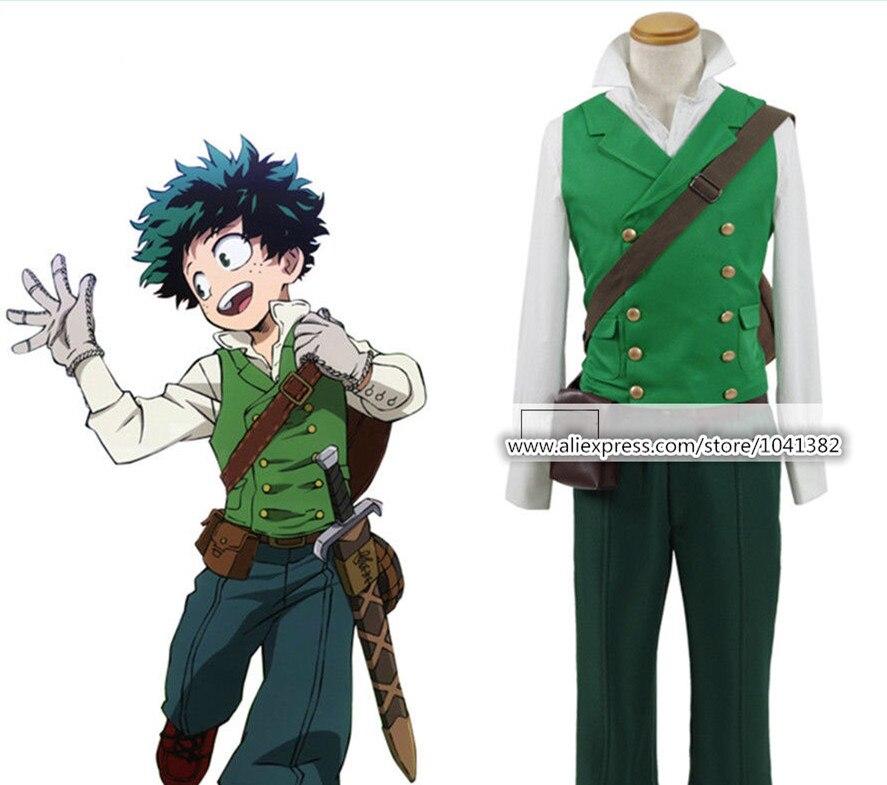 Mon héros académique Cosplay Izuku Midoriya costume Deku costume uniforme Halloween Costume
