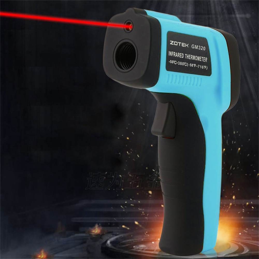 GM550 Digital Infrared Thermometer Industrial LCD Screen Instrument Non-contact Temperature Measurement Diagnostic Tool new industial instrument precision industrial digital thermometer temperature controller for welding machine best