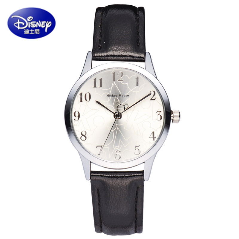 Authentic Disney Brand Luxury Women Watches 18K Real Gold Plated Quartz Watch Women Dress Watches High Quality PU Leather Clock  2017 new brand luxury women watches gold plated quartz watch women dress watches high quality pu leather clock montre femme