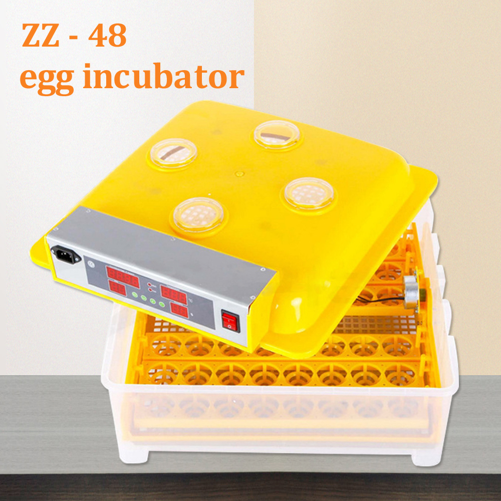 48 Egg Brooder Digital Automatic Turning Incubator Hatcher Chicken Duck Humidity Temperature Control Hatching Machine Farm Use