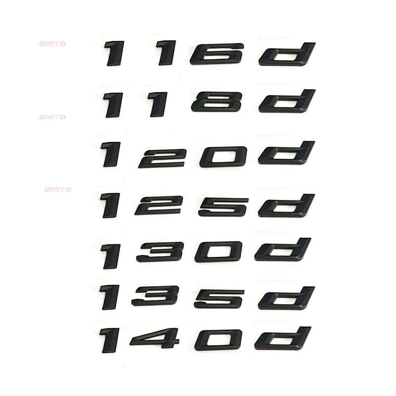 Trunk Lid Emblem Badge Carbon Fiber Letter 118d for BMW E81 F20 E87 E88 1-Series