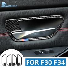 Airspeed для BMW F30 F34 аксессуары BMW F30 F34 наклейка для BMW F30 F34 углеродное волокно внутренняя отделка дверная ручка рамка наклейка s