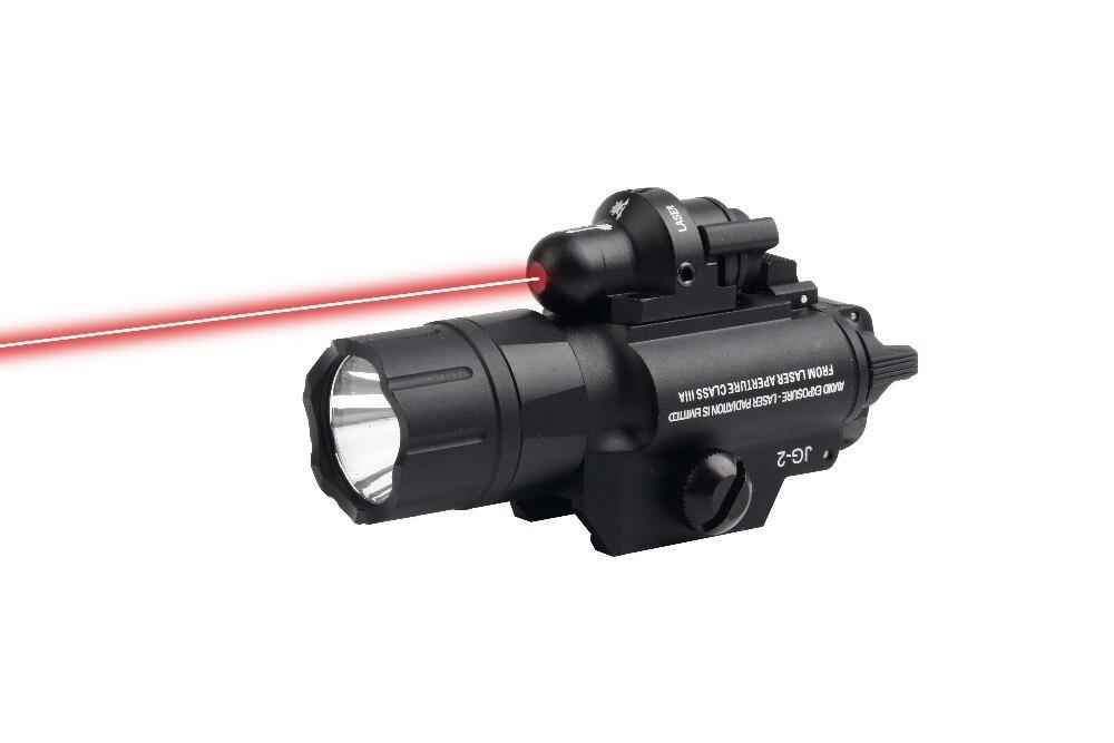 Rouge Laser vue pistolet torche Airsoft lumière LED lampe 500 Lumens tactique lampe de poche optique Picatinny Rail militaire chasse arme
