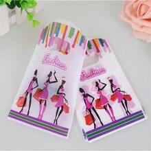 Лидер продаж; Новинка Дизайн оптовая продажа 50 шт./лот 9*15 см Высокое качество модная одежда для девочек маленький Пластик магазинов упаковки Сумки