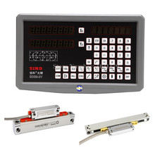 Фрезерный токарный станок 0,005 мм 0,001 мм SINO DRO комплект SDS6-2V 2 осевое устройство цифровой индикации + KA300 линейный энкодер + KA500 тонкие линейные весы