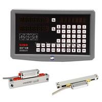 Milling Lathe 0.005mm 0.001mm SINO DRO kit SDS6 2V 2 axis digital readout DRO + KA300 linear encoder + KA500 slim linear scale