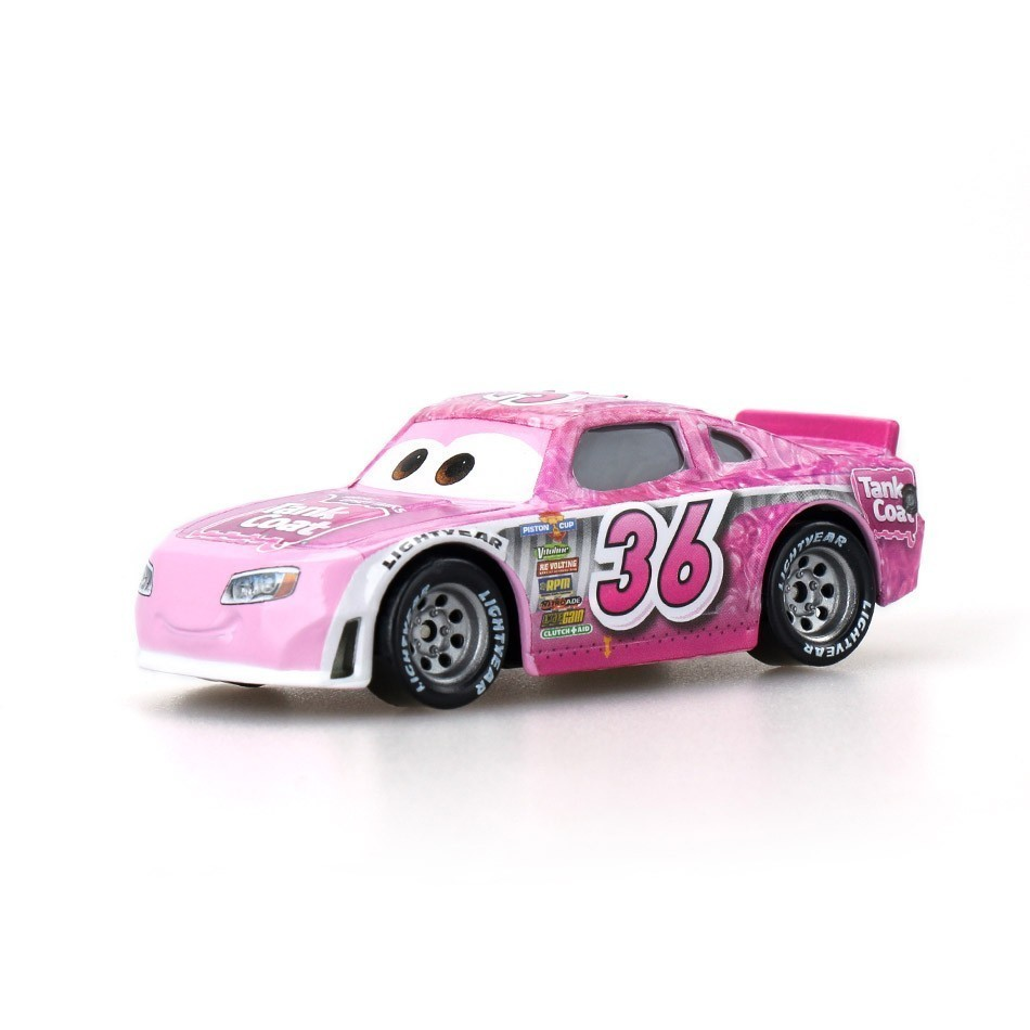 Disney Pixar Cars 3 New Lightning Mcqueen Jackson Storm Smokey Diecast Metal Pink Car Model Birthday Gift Toy For Kid Boy