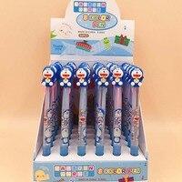 36 pcs/lot Doraemon Ballpoint Pen Cartoon 3 colors Animal Ball Pens Material Escolar office school Writing supplies