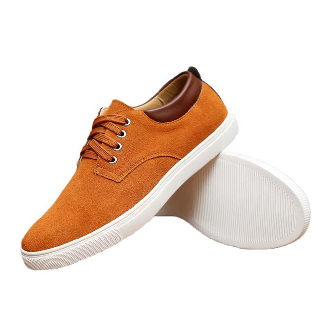 30% OFF  Large Size 49 Men's Casual Shoes Suede British Style Flat Comfortable Shoes for Male