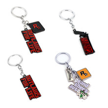 Classic Game Trinket Grand Theft Auto/Red Dead: Redemption Key Chain Metal Pendant Keyholder Women Men Car Bags Key Ring(China)
