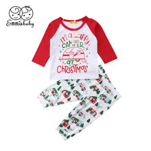 5021f81bcf7a4 Xmas Toddler Baby Boys Girls Letter I m A Happy Camper Romper Jumpsuit Pants  Outfits Clothes 2Pcs Baby Boy Girl Autumn Christmas