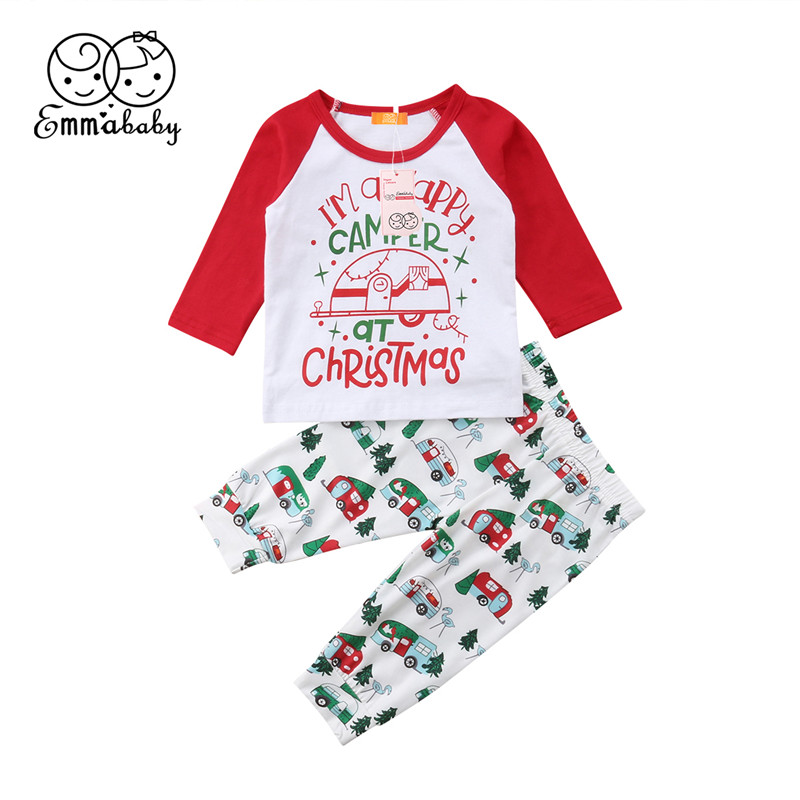 все цены на Xmas Toddler Baby Boys Girls Romper Jumpsuit Pants Outfits Clothes 2Pcs Baby Boy Girl Autumn Christmas Set Two Piece set