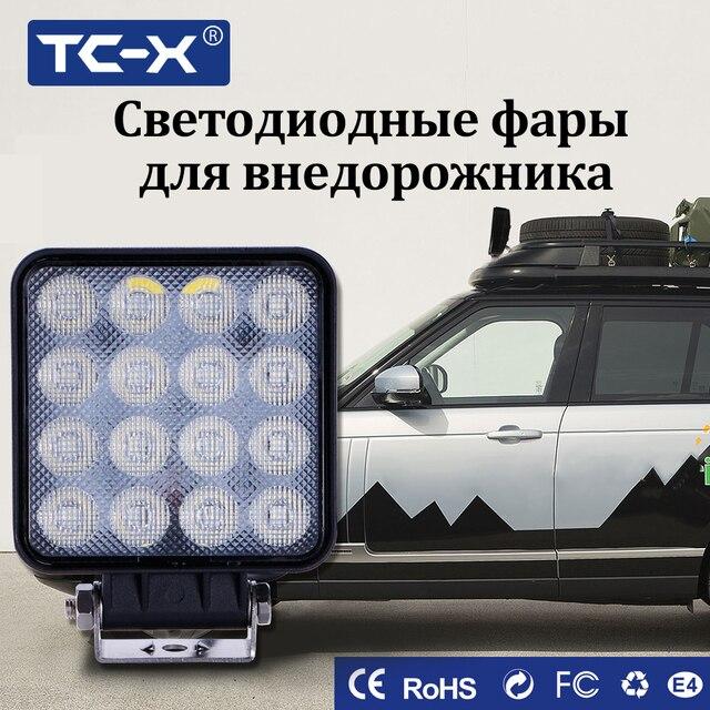 TC-X Flood Square LED Work Light Bar Lamp For Car Offroad 4x4 ATV ...