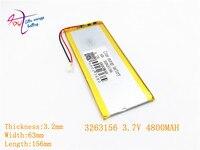 3,7 В 3263156 4800 мАч Перезаряжаемые литий-полимерный литий-ионный Батарея для 8 дюймов 9 inch планшетный ПК CHUWI Hi8 hi8 pro xv8 DVD DVR