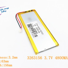 3.7 V 3263156 4800 MAH Pin Sạc li Polymer Li-Ion Pin Cho 8 inch 9 inch Tablet PC CHUWI Hi8 hi8 pro xv8 DVD DVR(China)