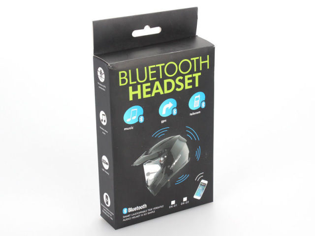 Free Shipping! DK-02 Bluetooth Motorcycle Helmet Headset With Microphone
