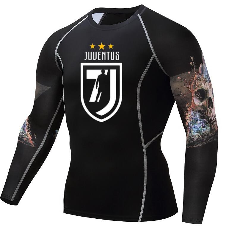 sale retailer 7513c 9bbbc 2018 New Juventus Cristiano Ronaldo T Shirt Man Summer Fashion 3D Teen Wolf  Long Sleeve Compression Shirt Crossfit MMA Fitness -in T-Shirts from Men's  ...