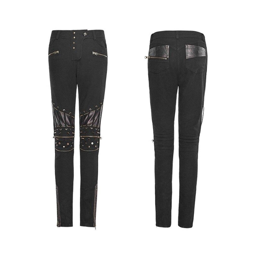 De Rock Du En Rivets Femmes Près Coutures Serré Pu Corps Pantalons Black Cuir Maigre Pantalon Crayon Steampunk Moto Victoruan 4qSwA5Hqn