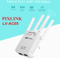 PIXLINK LV AC05 WiFi Range Extender 1200M Dual Band Wireless Router Repeater AP